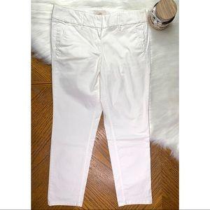Ann Taylor LOFT Marisa White Skinny Ankle Pants